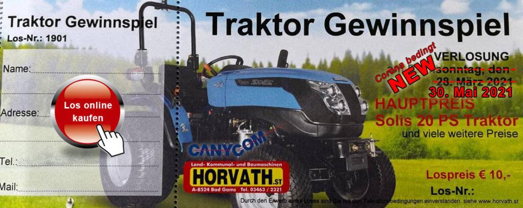 Traktor Gewinnspiel am 30.05.2021